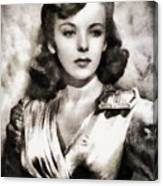 Ida Lupino, Vintage Actress Canvas Print