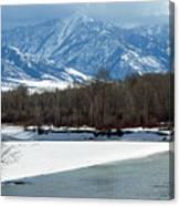 Idaho Winter River Canvas Print