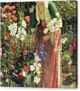 In The Bey's Garden Canvas Print