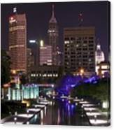 Indianapolis Canal View Canvas Print