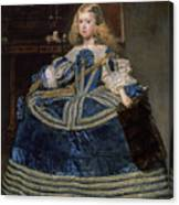 Infanta Margarita Teresa In A Blue Dress Canvas Print
