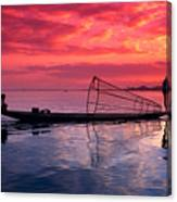 Inle Lake Fisherman Canvas Print