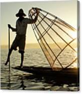 Inle Lake Fisherman Canvas Print