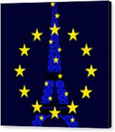 Inspired By The Eiffel Tower And The European Union Canvas Print