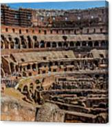 Interior Of The Coliseum, Rome, Italy Canvas Print