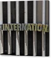 International Semi Truck Emblem Canvas Print