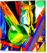Intersections Abstract Collage Canvas Print