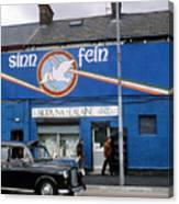Ira Mural In Belfast In Northern Ireland Canvas Print