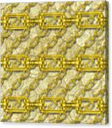 Iron Chains With Money Seamless Texture Canvas Print