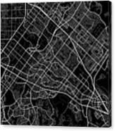 Irvine California Usa Dark Map Canvas Print