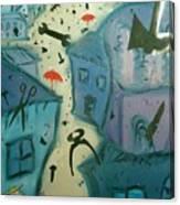 It Is Raining In My Little Village Canvas Print