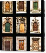 Italian Doors Canvas Print