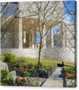 J Paul Getty Museum Garden Terrace Canvas Print