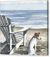 Jack Russel Terrier At The Beach Canvas Print