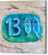 Jaffa, Pisces Zodiac Street Sign  Canvas Print