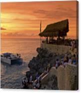 Jamaica Negril Ricks Cafe Canvas Print