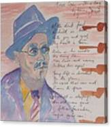 James Joyce Canvas Print