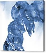 Jane And Tarzan-blue Canvas Print
