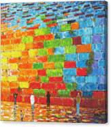 Jerusalem Wailing Wall Original Acrylic Palette Knife Painting Canvas Print