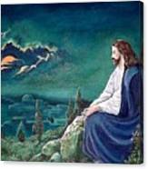 Jesus Praying Canvas Print