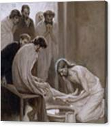 Jesus Washing The Feet Of His Disciples Canvas Print