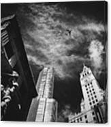 Jet Over Michigan Avenue Canvas Print