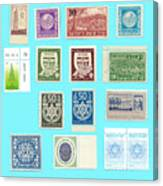 Jnf Stamps  Canvas Print