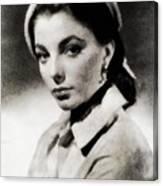 Joan Collins, Actress Canvas Print