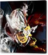 Joe Bonamassa Blue Guitarist Art Canvas Print