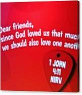 1 John Bible Verse Canvas Print