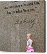 John F. Kennedy Memorial Canvas Print