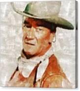 John Wayne By Mary Bassett Canvas Print