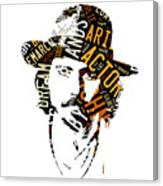 Johnny Depp Movie Titles Canvas Print