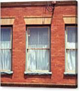 Jonesborough Tennessee Three Windows Canvas Print