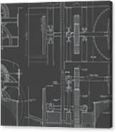 Jonval Turbines - Fairmount Waterworks - Philadelphia, Pa - Circa 1812 Canvas Print