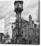 joseph chamberlain memorial clock in warstone lane jewellery quarter Birmingham UK Canvas Print
