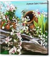 Joyeuse Saint Valentin  Canvas Print