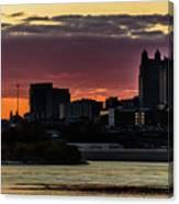 Kansas City Sunrise From Kaw Point Canvas Print