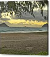Kaohikapu Island Sunrise Canvas Print