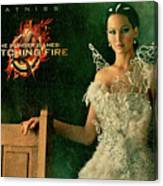 Katniss Hunger Games Catching Fire Canvas Print
