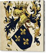 King Of France Coat Of Arms - Livro Do Armeiro-mor  Canvas Print