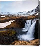 Kirkjufellsfoss Waterfalls Iceland Canvas Print