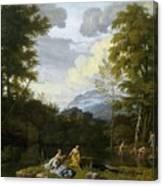 Klassische Landschaft Mit Arkadischer Canvas Print