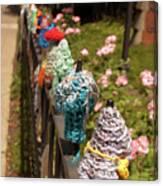 Knit Fence Protectors Canvas Print