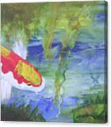 Kohaku Koi And Water Lily Canvas Print