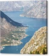 Kotor Bay In Montenegro Canvas Print