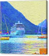 Kotor Harbor Canvas Print