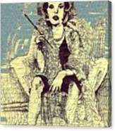La Femme Qui Fume Apres Kevin Montague Canvas Print
