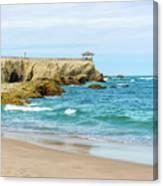 La Loberia Beach View In Salinas, Ecuador  Canvas Print