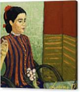 La Mousme Is Unconvinced Canvas Print